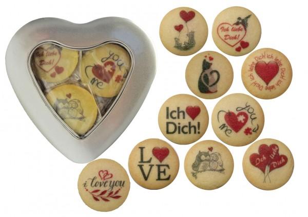 Ich liebe Dich-Herz 10 Kekse