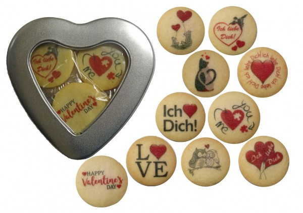 Valentinstag-Herz - 10 Kekse