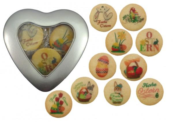 Oster-Herz - 10 Kekse