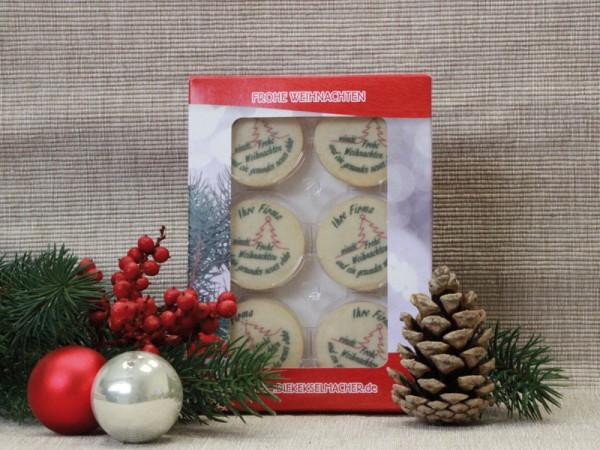 Weihnachtskarton mit 12 Keksen